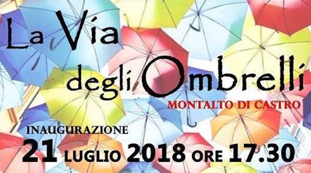 """""""La Via degli Ombrelli"""" solidali inaugura """"Garibaldi Street Festival"""""""