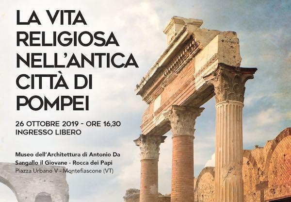 """Conferenza su """"La vita religiosa nell'antica città di Pompei"""""""