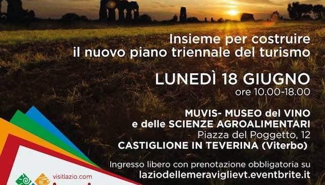 """Al Muvis """"Lazio, la Regione delle Meraviglie"""". Verso il nuovo Piano triennale del turismo"""