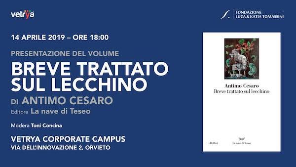 """Antimo Cesaro presenta il libro """"Breve trattato sul lecchino"""""""