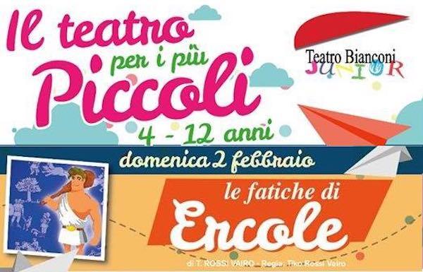 Al Teatro Bianconi riparte la Stagione Junior con il mito di Ercole