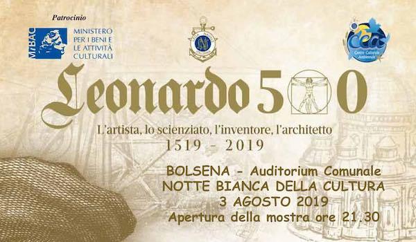 """""""Il genio, la natura, l'acqua e il mare"""". A 500 anni dalla morte di Leonardo"""