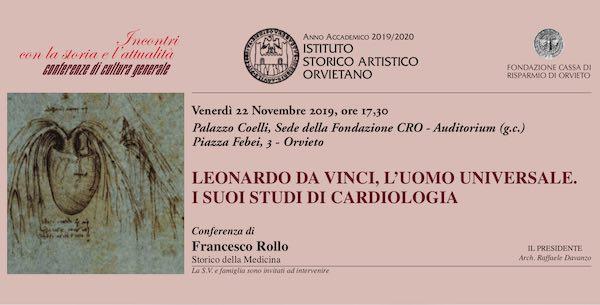 """""""Leonardo da Vinci, l'uomo universale. I suoi studi di cardiologia"""""""