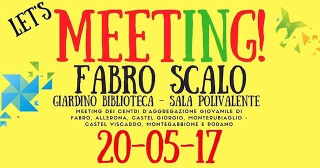 """""""Let's meeting!"""" a Fabro Scalo, arriva il meeting dei Centri di aggregazione giovanile della zona sociale 12"""