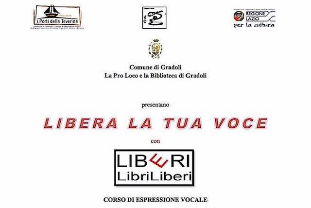 """""""LibriLiberi"""". Alla Biblioteca Comunale c'è il seminario """"Libera la Voce"""""""