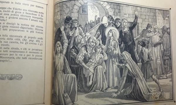 La vita di Santa Rosa da Viterbo in due preziosi volumi illustrati del 1929