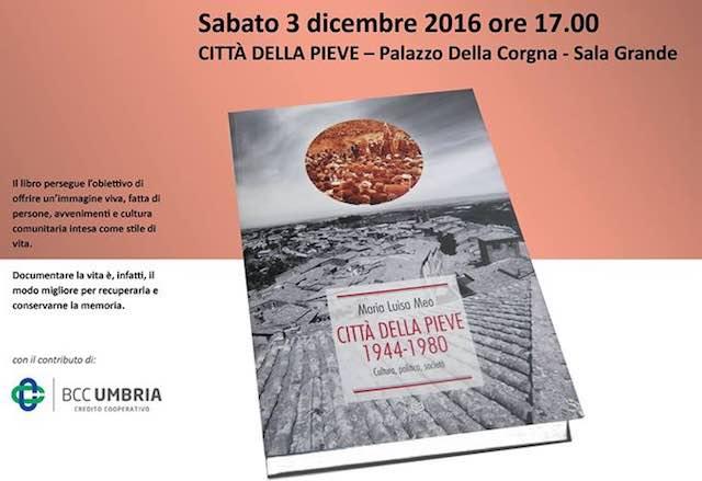 """A Palazzo della Corgna si presenta """"Città della Pieve 1944-1980 Cultura Politica Società"""""""