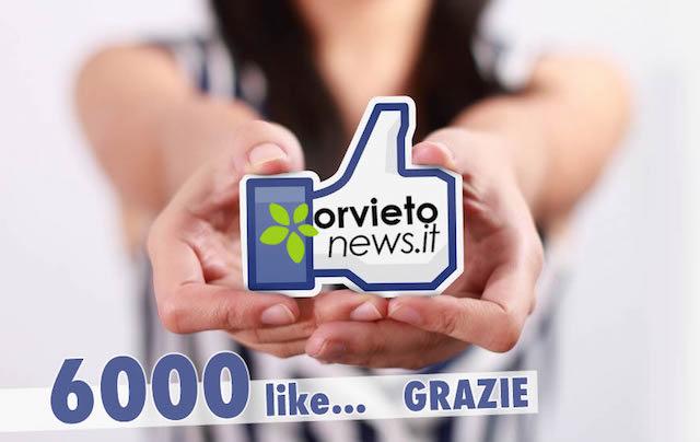 Per Orvietonews 6000 like, semplicemente grazie