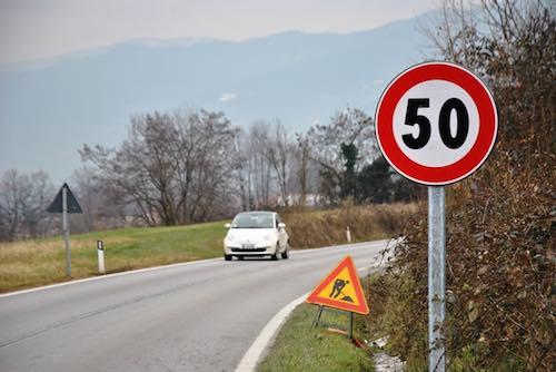 Limite di velocità a 60 chilometri orari sulla SP 32, a 50 sulla SR 71
