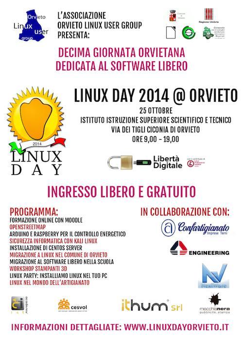 Linux Day 2014. Il 25 ottobre la giornata dedicata al software libero ed open source.