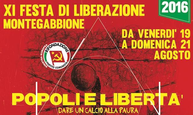 """Via alla XI Festa di Liberazione """"Popoli e libertà. Dare un calcio alla paura"""""""