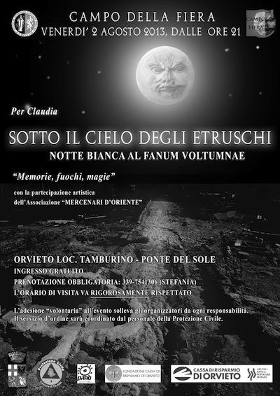 Sotto il cielo degli Etruschi. Torna la notte bianca al Fanum Voltumnae