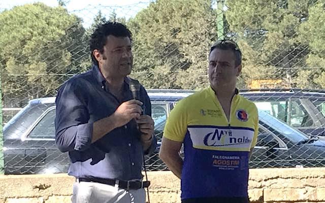 Claudio Vandelli al Primo Raduno MTB dei Monaldeschi