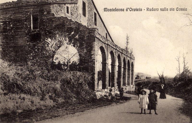 Monteleone d'Orvieto - L'Osteria. Rudero sulla Via Cassa (1900/1910)