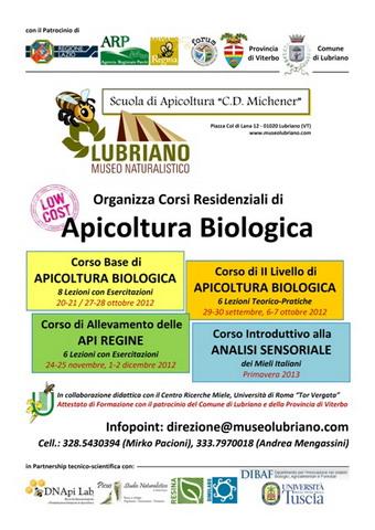 """Scuola di Apicoltura """"C.D. Michener"""" al Museo Naturalistico di Lubriano"""