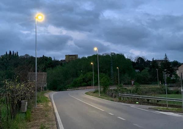Installazione di nuovi punti luce in Via del Ponte
