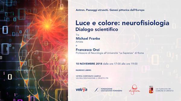 """""""Il colore non è, ma appare"""". Dialogo tra scienza e arte con Francesco Orzi e Michael Franke"""