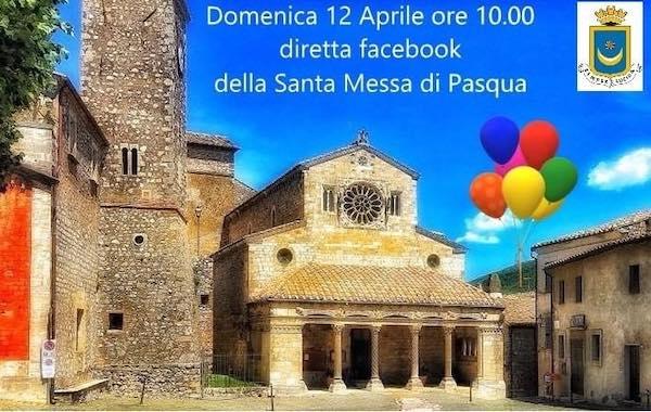 Messa di Pasqua in diretta Facebook dalla Collegiata di Santa Maria Assunta