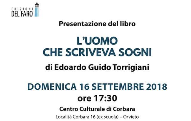 "Edoardo Guido Torrigiani presenta ""L'uomo che scriveva sogni"""