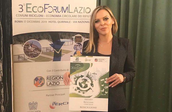 """Anche Ronciglione riceve il premio di """"Comune riciclone"""""""