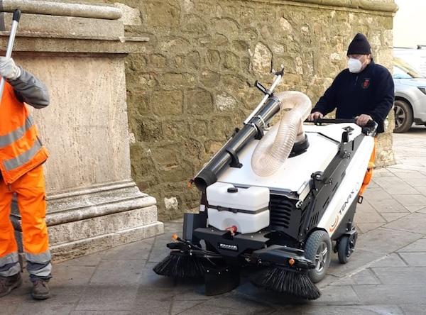A Manciano arrivano i nuovi macchinari elettrici per pulire le strade