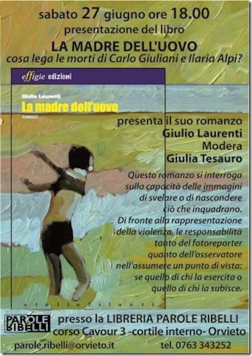 """Giulio Laurenti presenta il libro """"La madre dell'uovo"""""""