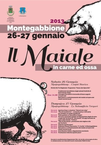 """Tutto pronto a Montegabbione per il weekend con """"Il maiale in carne ed ossa"""""""