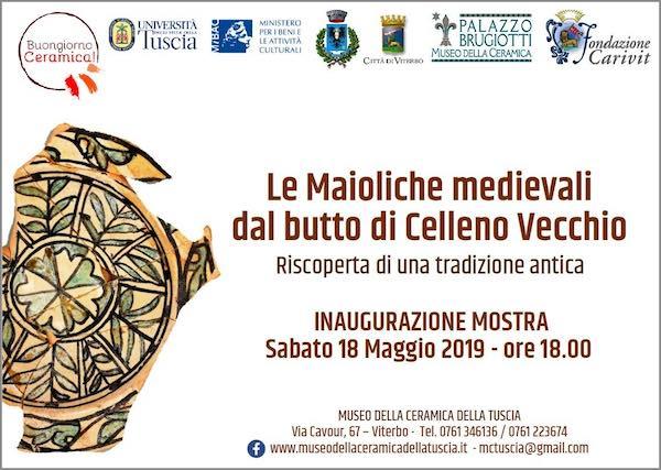 """In mostra """"Le Maioliche Medievali dal Butto di Celleno Vecchio"""""""