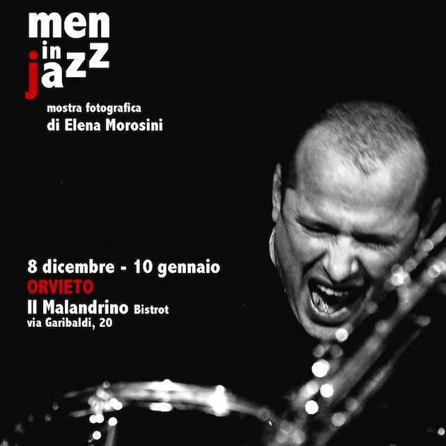 """""""Men in jazz"""" al Malandrino. In mostra sulla Rupe gli scatti di Elena Morosini"""