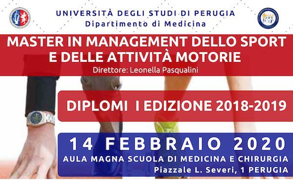 Master in Management dello Sport e delle Attività Motorie, conferimento diplomi
