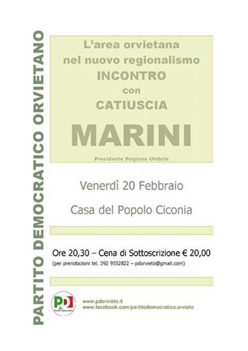 """Incontro con Catiuscia Marini su """"L'area orvietana nel nuovo regionalismo"""""""