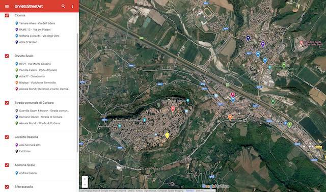 """""""Orvieto Street Art"""", on line la mappa interattiva destinata a crescere"""