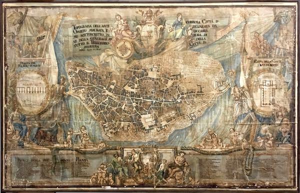 Recuperata ed esposta alla Biblioteca Fumi la pianta della Orvieto del '700