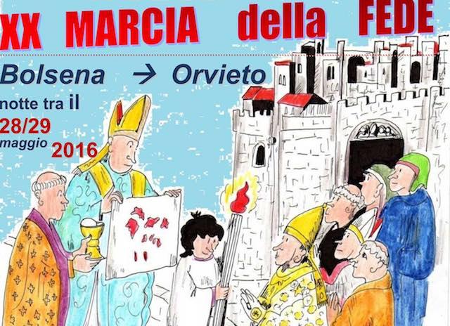 Edizione numero XX per la Marcia della Fede Bolsena-Orvieto