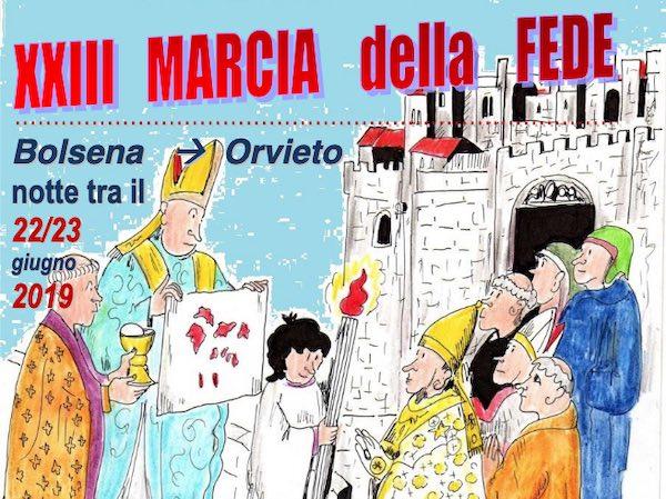 Marcia della Fede da Bolsena a Orvieto nella notte del Corpus Domini