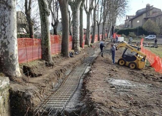 Lavori per la realizzazione del marciapiede di collegamento tra centro abitato e cimitero