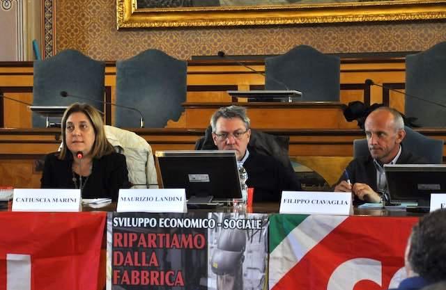"""Marini a confronto con Landini (Cgil): """"Centrale, la crescita dimensionale delle imprese"""""""
