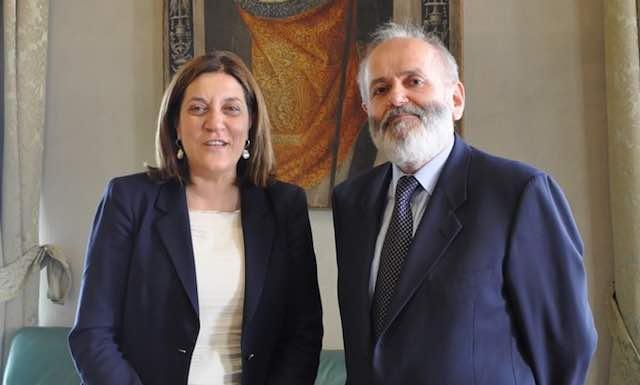 Marini riceve il nuovo presidente della Sezione regionale della Corte dei Conti dell'Umbria