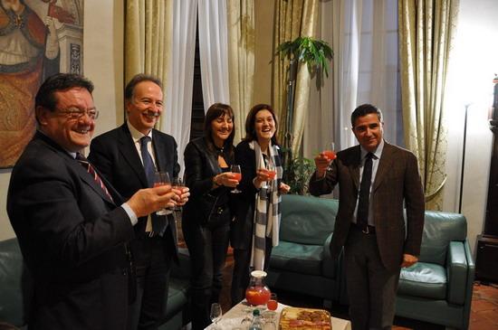Regioni, la presidente Marini riceve a Palazzo Donini la presidente della Regione Lazio Polverini