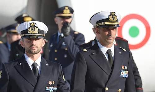 """Manifestazione a sostegno dei Marò: """"Solidarietà a Latorre e Girone"""""""