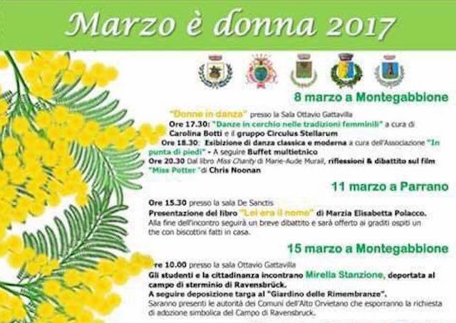 Marzo è donna, gli appuntamenti nell'Alto Orvietano