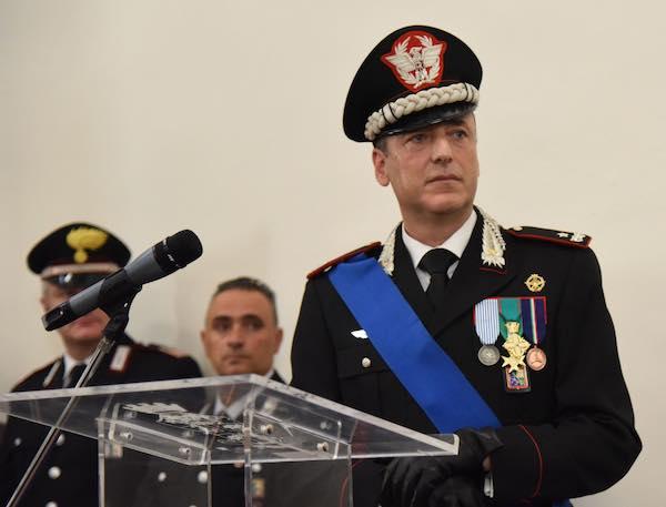 Il comandante della Legione Carabinieri in visita a Giove