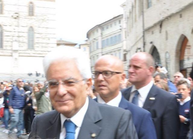 Visita umbra per il presidente della Repubblica Sergio Mattarella