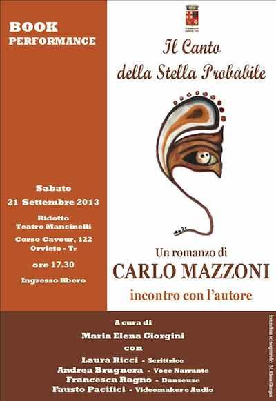 """""""Il canto della stella probabile"""": una book-performance per presentare il nuovo libro di Carlo Mazzoni"""