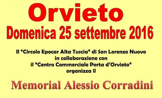Memorial Alessio Corradini, il programma della giornata
