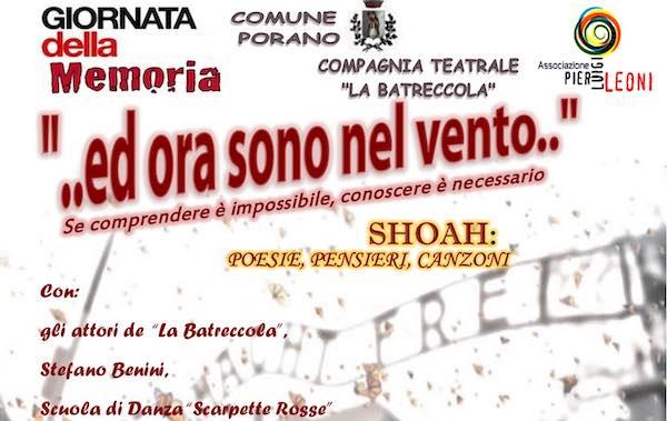 """""""...ed ora sono nel vento..."""". Al Teatro Santa Cristina si fa memoria della Shoah"""