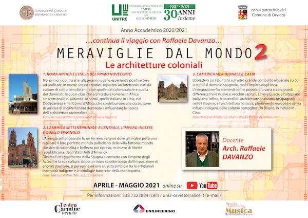 """Continua online il viaggio con l'architetto Raffaele Davanzo. A breve, """"Meraviglie dal Mondo 2"""""""