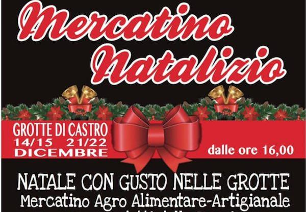 """""""Natale con gusto nelle grotte"""". Mercatino con prodotti tipici della Tuscia"""