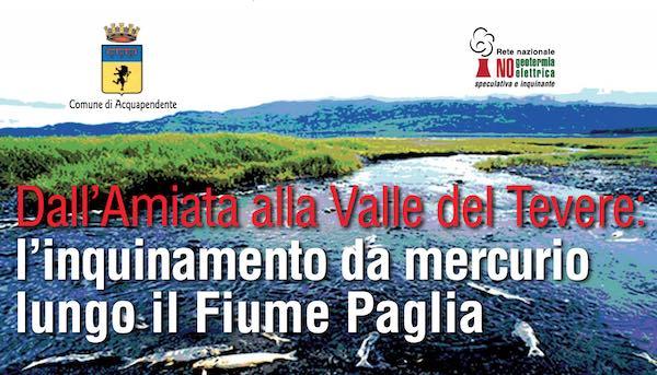Mercurio nel Paglia, Nogesi scrive a Commissione Ecomafie ed altri enti
