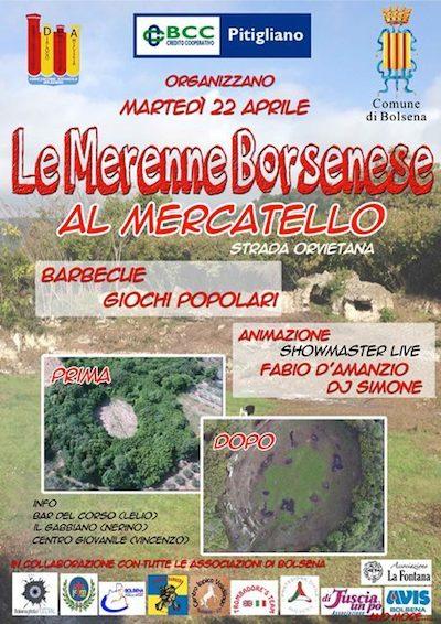 """Al Mercatello sono in arrivo """"Le Merenne Borsenese"""""""